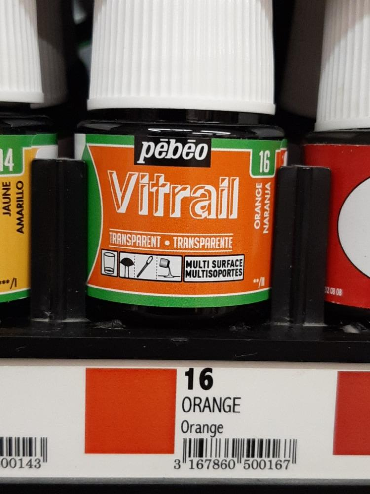 VITRAIL 45ml č.16 Orange