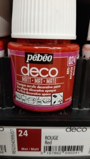DECO 45ml MAT č.24 Red