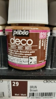 DECO 45ml MAT č.29 Brown