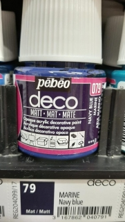 DECO 45ml MAT č.79 Navy Blue